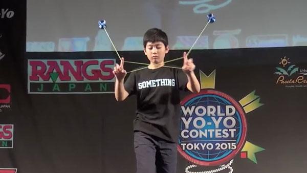 Der aktuelle Jojo-Champion Hajime Miura