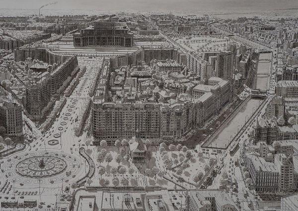 Stefan Bleekrode malt komplette Städte aus seinem Gedächtnis