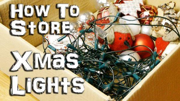 Wie man Lichterketten besser aufbewahrt