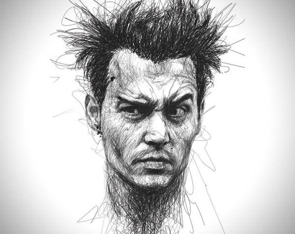 Celebrity-Portraits ohne Stiftabsetzen von Vince Low | Design/Kunst | Was is hier eigentlich los?