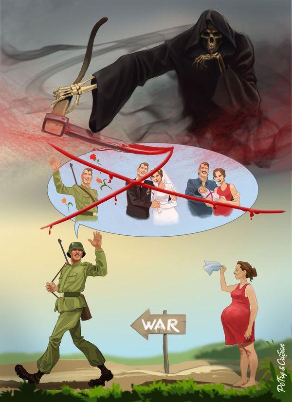 Satirische Cartoons von Petry und Crisan | Design/Kunst | Was is hier eigentlich los?