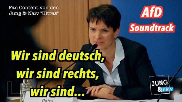 Wir sind deutsch, wir sind rechts, wir sind ... - Der AfD-Soundtrack | Lustiges | Was is hier eigentlich los? | wihel.de