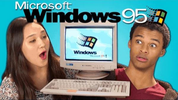 Wie Jugendliche von heute auf Windows 95 reagieren