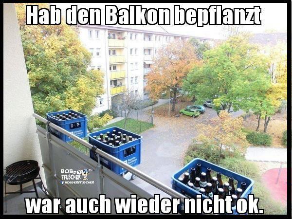 Balkon-Bepflanzung - Männerstyle | Lustiges | Was is hier eigentlich los?
