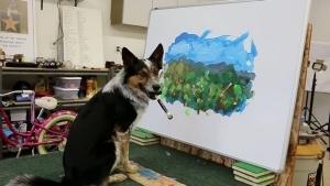 Dieser Hund malt besser als du! | Design/Kunst | Was is hier eigentlich los? | wihel.de