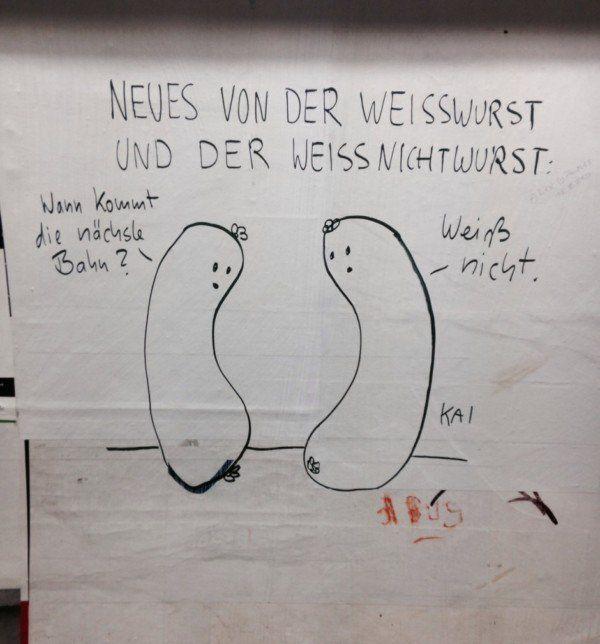 Die Weißwurst und Weißnichtwurst | Design/Kunst | Was is hier eigentlich los?