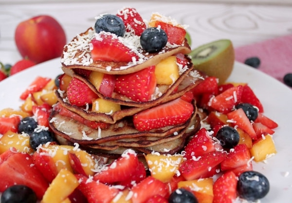 Line backt Bananenpancakes