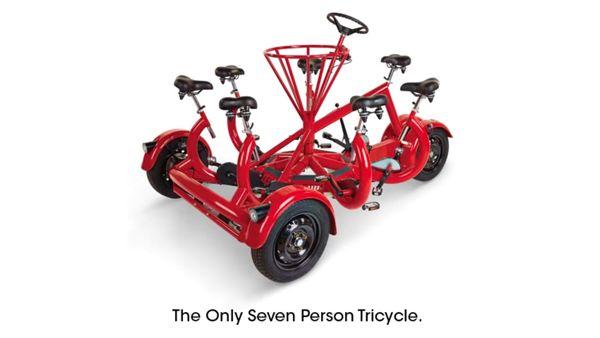 Single-Börsen-Alternative: Das 7-Personen-Tricycle | Gadgets | Was is hier eigentlich los?