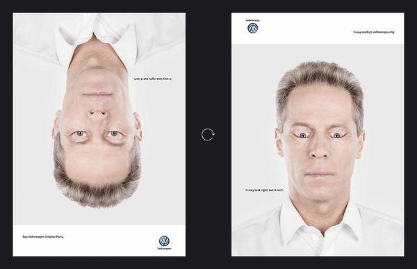 Starke Printkampagne von VW: It may look right, but it isn't. | Werbung | Was is hier eigentlich los?