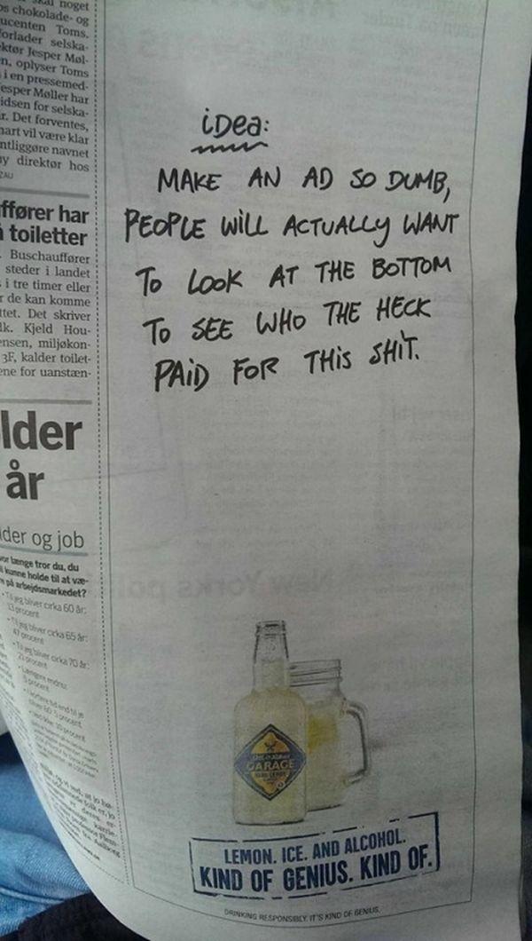 Das nenn ich mal eine clevere Print-Anzeige | Musik | Was is hier eigentlich los?