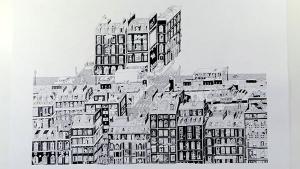 Guillaume Cornet zeichnet (s)eine Nachbarschaft in 75 Stunden | Design/Kunst | Was is hier eigentlich los? | wihel.de