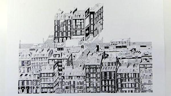 Guillaume Cornet zeichnet (s)eine Nachbarschaft in 75 Stunden | Design/Kunst | Was is hier eigentlich los?
