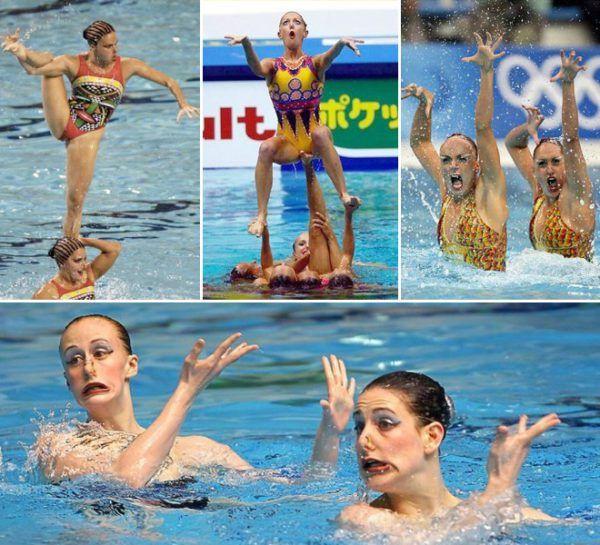 Synchronschwimmer und ihre Gesichter | Lustiges | Was is hier eigentlich los?