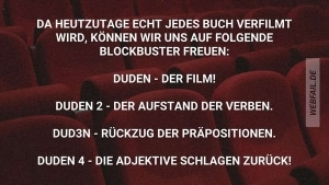 Endlich mal eine vernünftige Buchverfilmung | Lustiges | Was is hier eigentlich los? | wihel.de