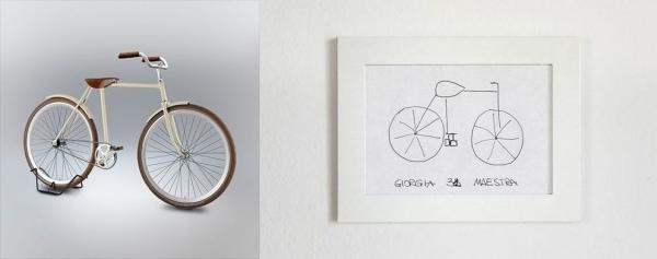 Fahrrad aus dem Gedächtnis gemalt - So würde es in Echt aussehen