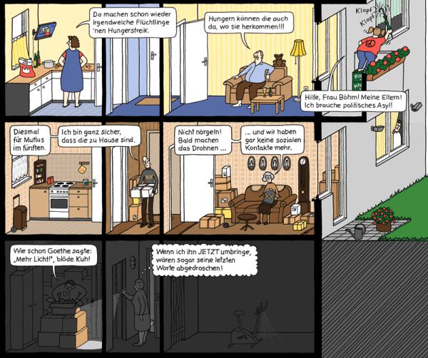Das Hochaus - Ein Comic-Strip von Katharina Greve | Design/Kunst | Was is hier eigentlich los? | wihel.de