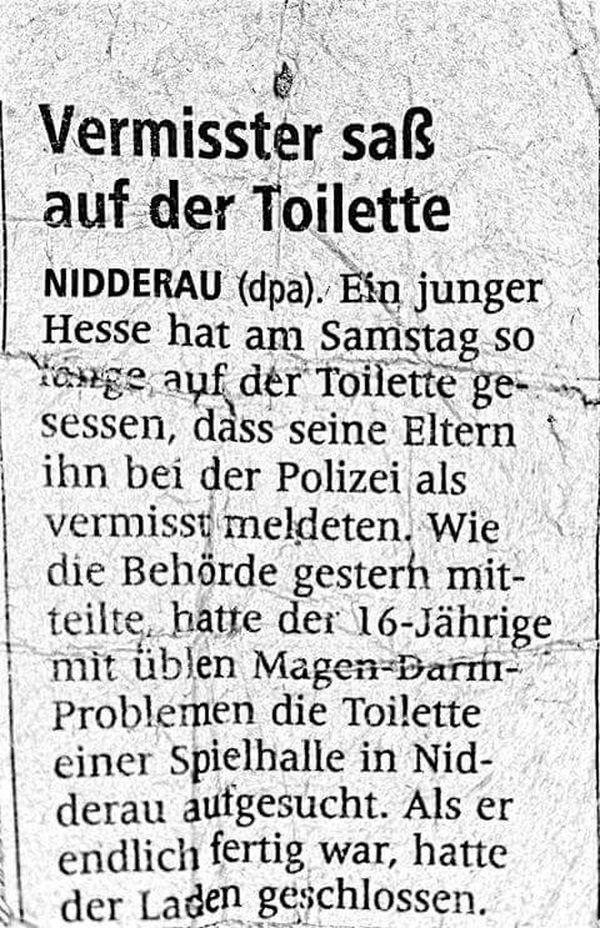 Auf dem Klo verschollen | Lustiges | Was is hier eigentlich los? | wihel.de