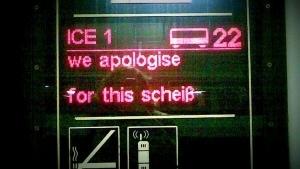 Die Bahn entschuldigt sich | Lustiges | Was is hier eigentlich los? | wihel.de