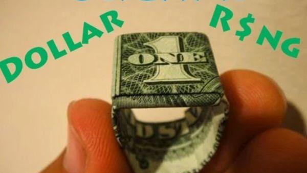 Ein Ring aus einem 1-Dollar-Schein | Handwerk | Was is hier eigentlich los?