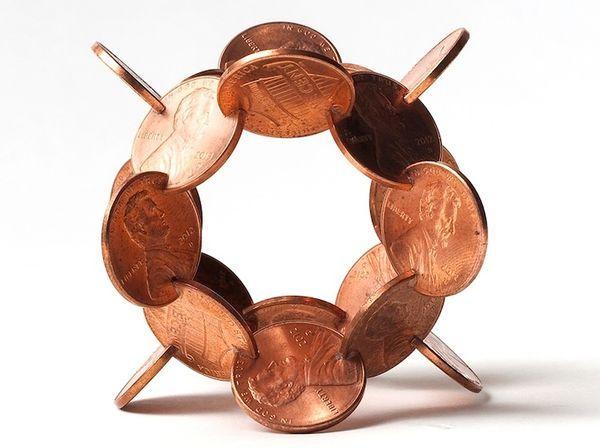 Kleingeld-Kunst von Robert Wechsler | Design/Kunst | Was is hier eigentlich los?
