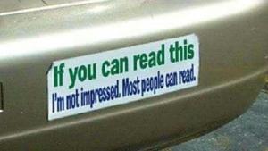 Wenn du das lesen kannst ... | Lustiges | Was is hier eigentlich los? | wihel.de