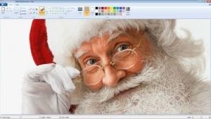 Ein extrem realistischer Weihnachtsmann mit Paint gemalt | Design/Kunst | Was is hier eigentlich los? | wihel.de