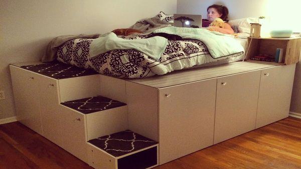 Ein Bett aus IKEA-Schränken | Handwerk | Was is hier eigentlich los?