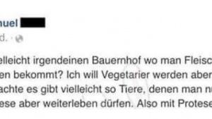 Samuel möchte lieber langsam Vegetarier werden | Lustiges | Was is hier eigentlich los? | wihel.de
