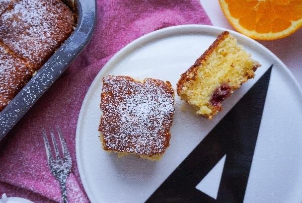 Line backt Orangen-Buttermilch-Kuchen mit Kirschen | Line backt | Was is hier eigentlich los?