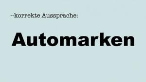 Korrekte Aussprache: Automarken | Lustiges | Was is hier eigentlich los? | wihel.de