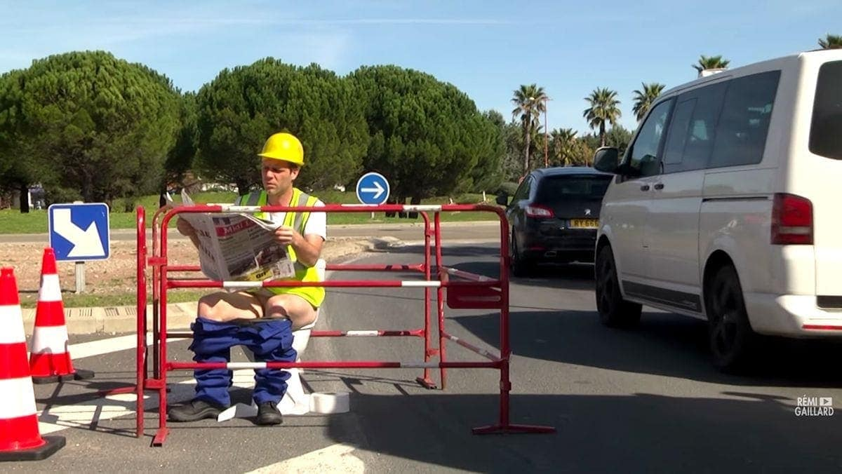 Rémi Gaillard als Bauarbeiter | Lustiges | Was is hier eigentlich los?