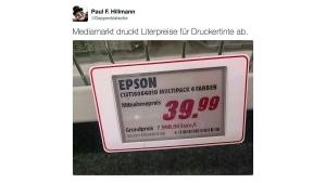 Was ein Liter Druckertinte kostet | Lustiges | Was is hier eigentlich los? | wihel.de