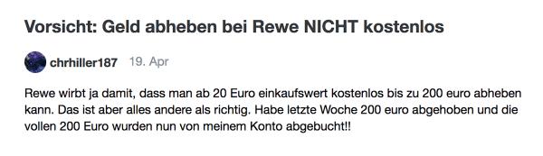 Bei REWE kann man gar nicht kostenlos Geld abheben! | Lustiges | Was is hier eigentlich los? | wihel.de