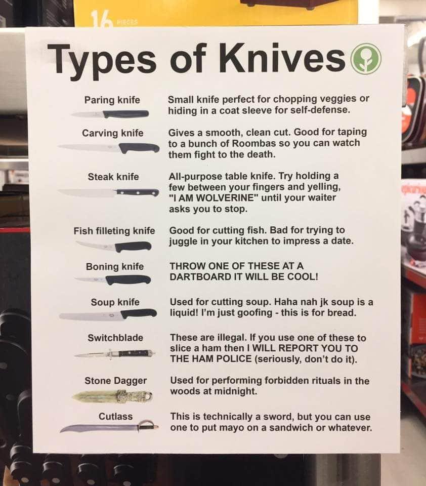 Die vielen Arten des Messers | Lustiges | Was is hier eigentlich los?