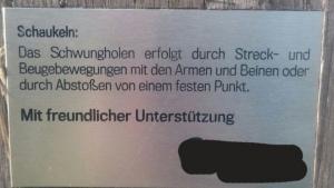 Eine Anleitung zum Schaukeln | Lustiges | Was is hier eigentlich los? | wihel.de