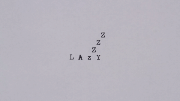 Animierte Typographie mit einer alten Schreibmaschine von Greg Condon | Animation | Was is hier eigentlich los? | wihel.de