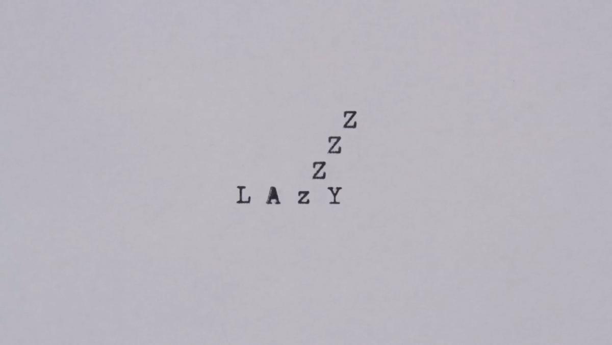 Animierte Typographie mit einer alten Schreibmaschine von Greg Condon | Animation | Was is hier eigentlich los?