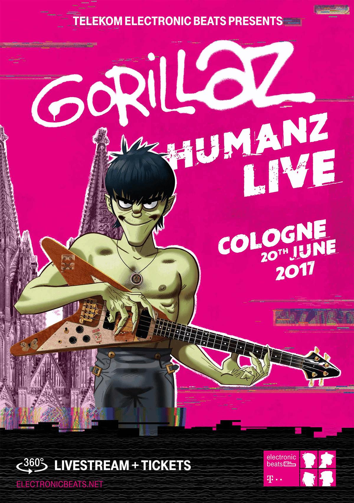 Die Gorillaz sind zurück: Sei bei der Liveshow dabei - in 360° | sponsored Posts | Was is hier eigentlich los?
