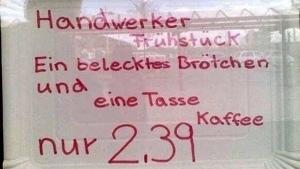 Ein richtiges Handwerkerfrühstück | Lustiges | Was is hier eigentlich los? | wihel.de
