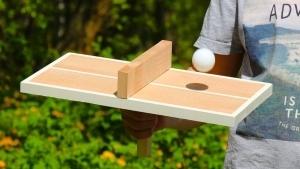 Eine Tischtennisplatte für Einzelspieler | Handwerk | Was is hier eigentlich los? | wihel.de
