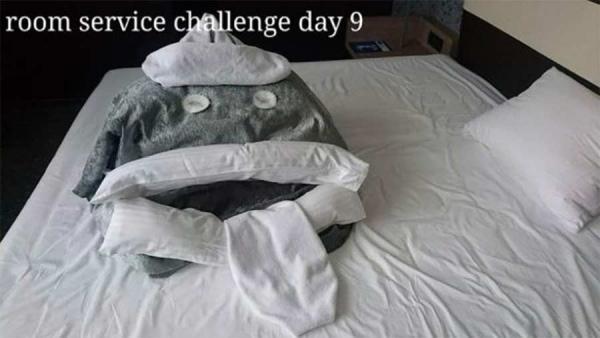 Kreative Bettmonster bei Hotelbesuchen | Lustiges | Was is hier eigentlich los? | wihel.de