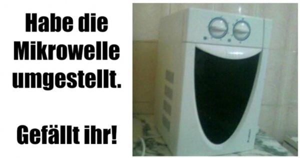 Mikrowelle umgestellt - nun freut sie sich | Lustiges | Was is hier eigentlich los? | wihel.de