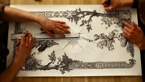 Steeven Salvat und Jan Theo malen zusammen ein Bild | Timelapse | Was is hier eigentlich los? | wihel.de