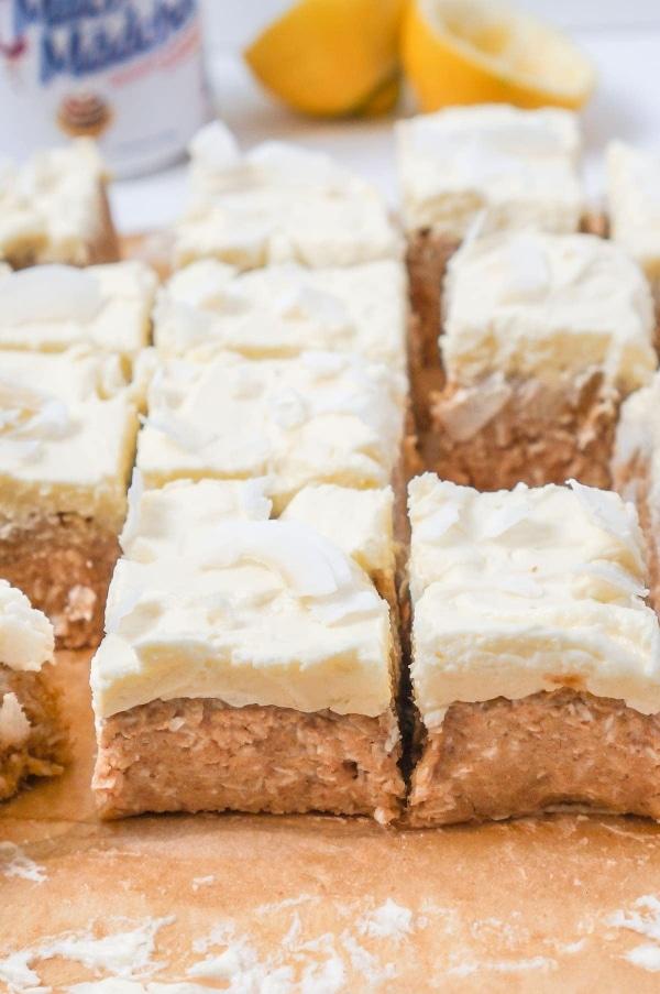 Line macht No Bake Lemon Kokos Squares | Line backt | Was is hier eigentlich los? | wihel.de