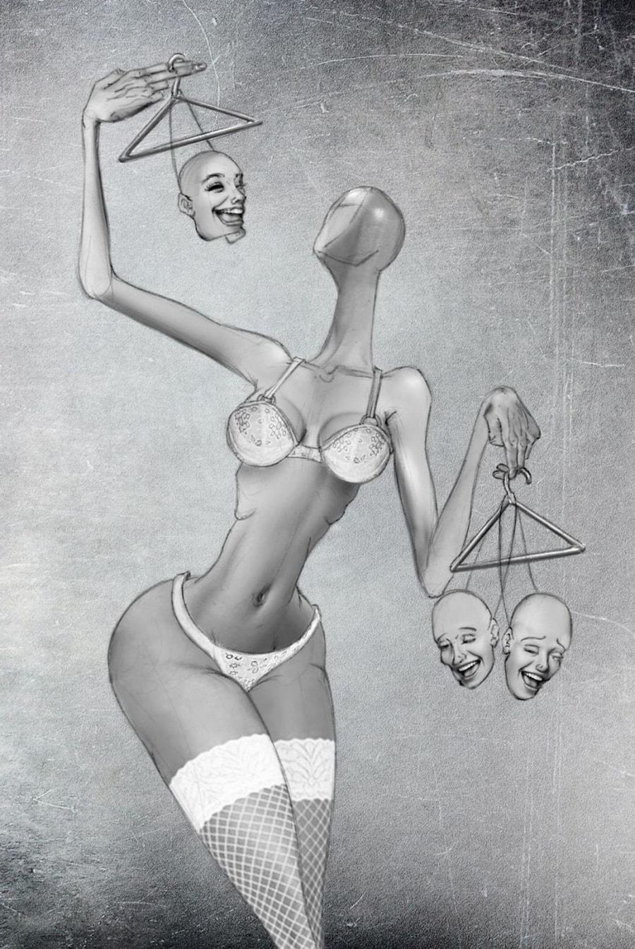 Satirische Illustrationen von Al Margen   Design/Kunst   Was is hier eigentlich los?