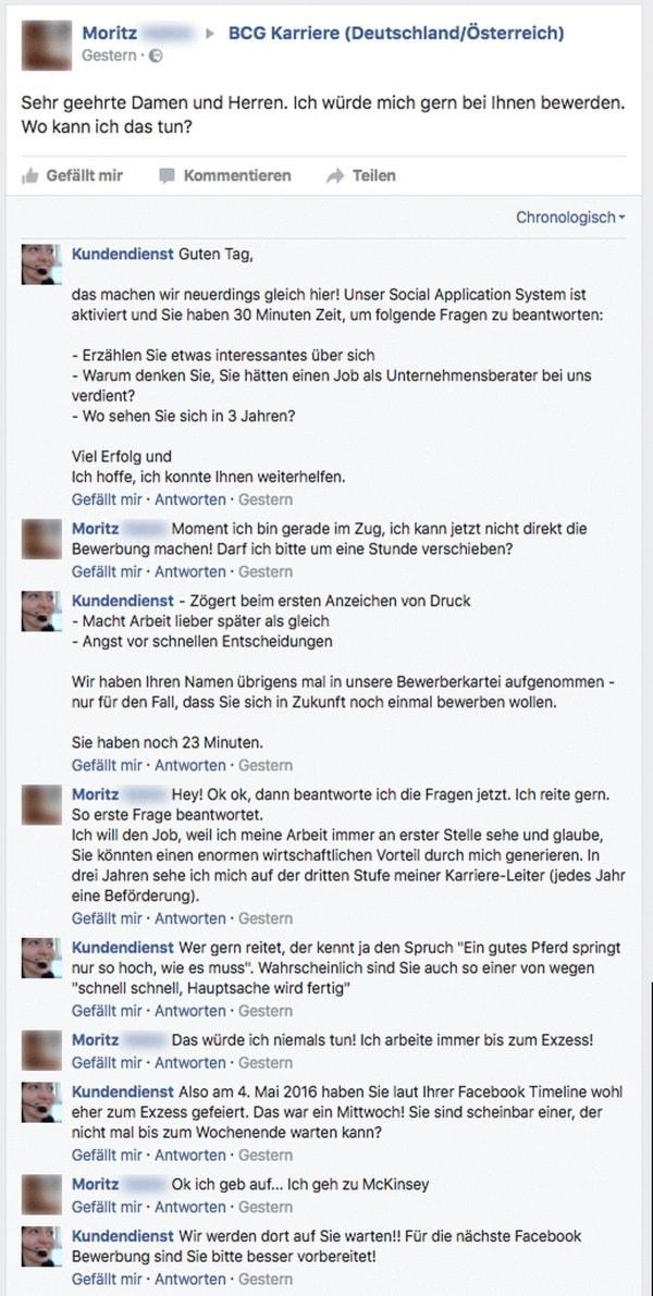 Der Kundendienst und die spontane Bewerbung über Facebook | Lustiges | Was is hier eigentlich los? | wihel.de
