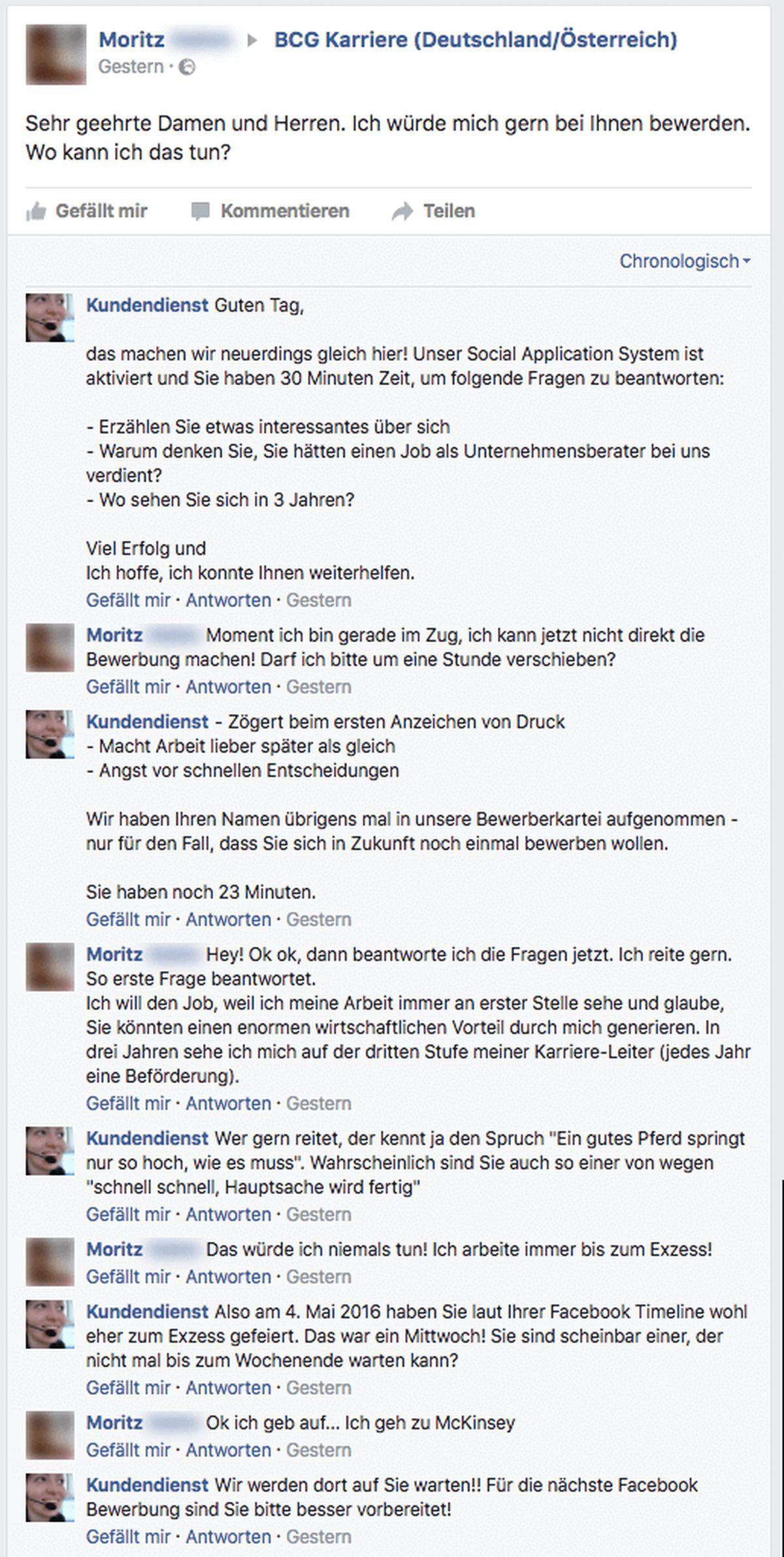 Der Kundendienst und die spontane Bewerbung über Facebook | Lustiges | Was is hier eigentlich los?