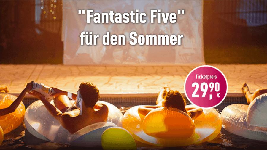 Leinwand statt Sonnenbrand - CinemaxX präsentiert das Fantastic Five-Ticket   sponsored Posts   Was is hier eigentlich los?