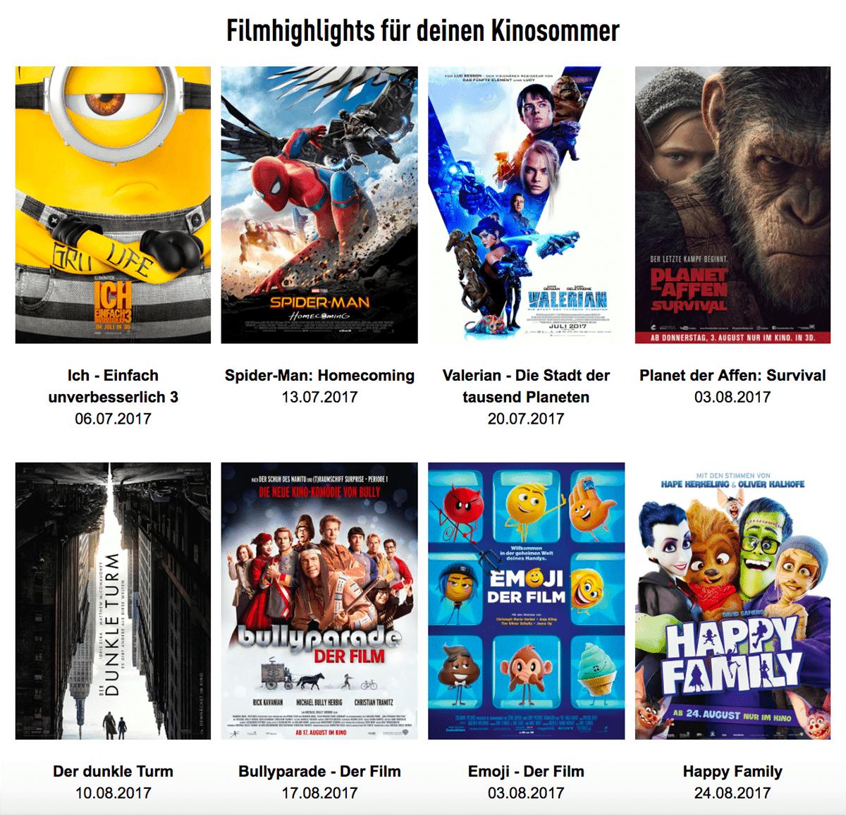 Leinwand statt Sonnenbrand - CinemaxX präsentiert das Fantastic Five-Ticket | sponsored Posts | Was is hier eigentlich los?