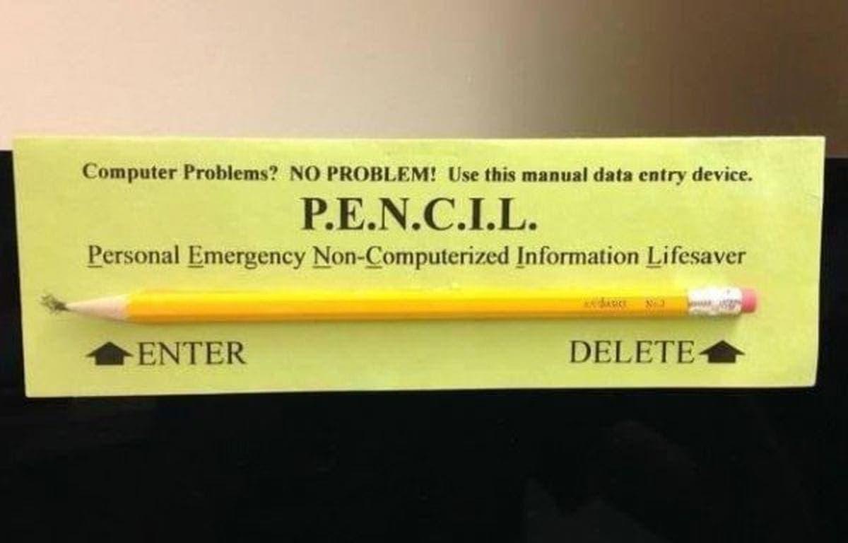 Computerprobleme? Dann nimm P.E.N.C.I.L. | Lustiges | Was is hier eigentlich los?